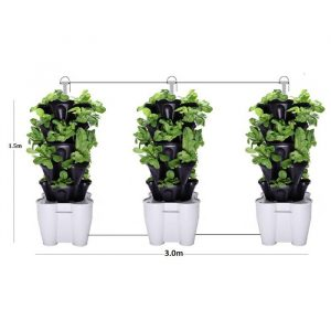 3 Tower Hydroponic Vertical Garden