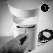 1. Unscrew the adjustment lever