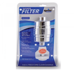 Sprite High Output Shower Filter – Chrome & Brass