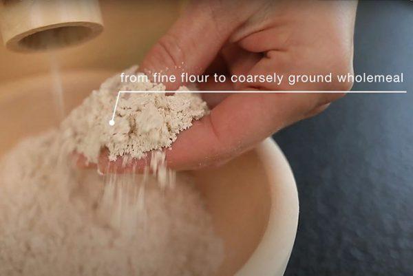 Stone Grain Mill Australia - Electric - Family - Waldner Biotech - Flour Coarseness View